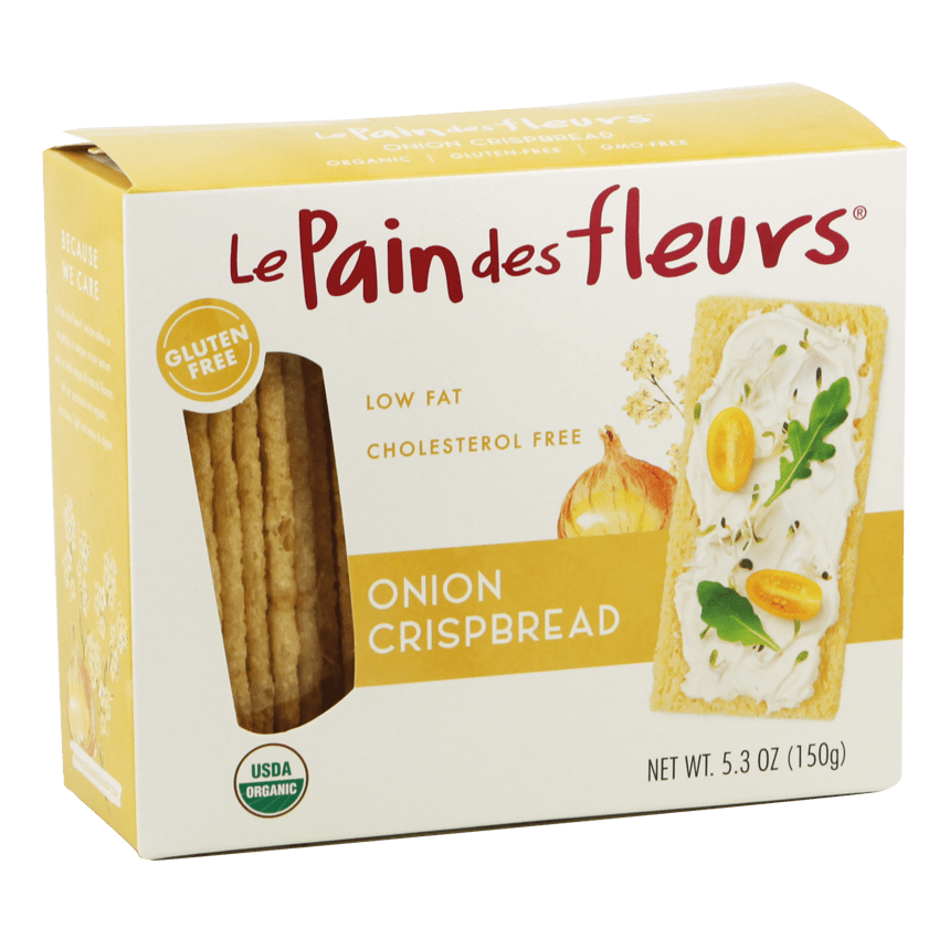 Organic Crunchy Onion Aperitif Crispbreads