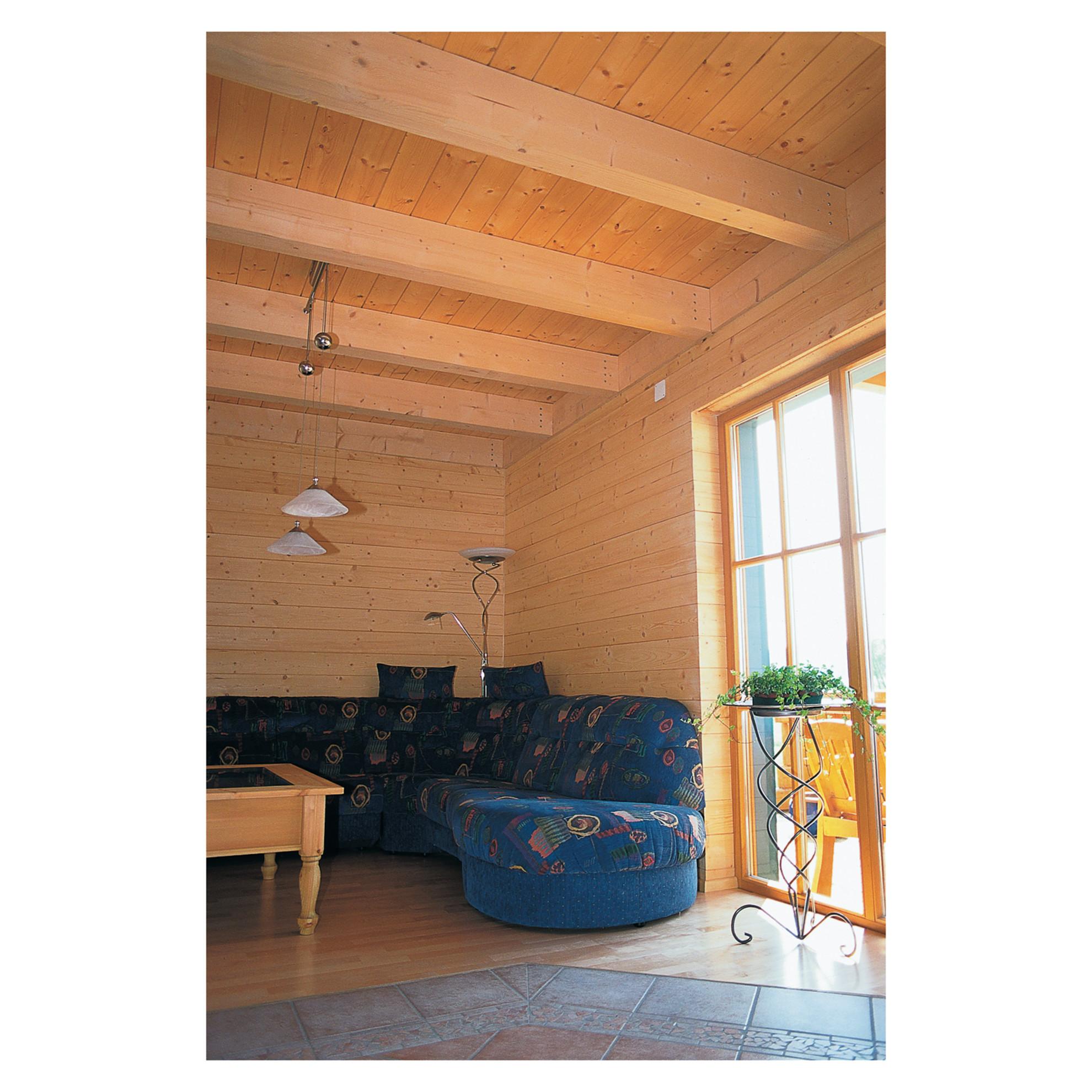 Perline soffitto: bagno con soffitto in legno: travi legno bianco ...