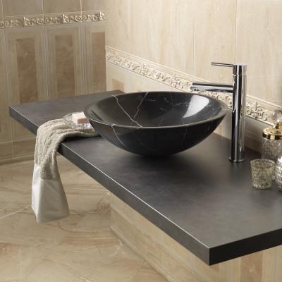 Top per lavabo d'appoggio forma anticato 4 x 150 x 50 cm: prezzi e ...