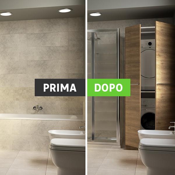 Simple vasca e doccia insieme doccia walk in leroy merlin - Vasca da bagno e doccia insieme ...