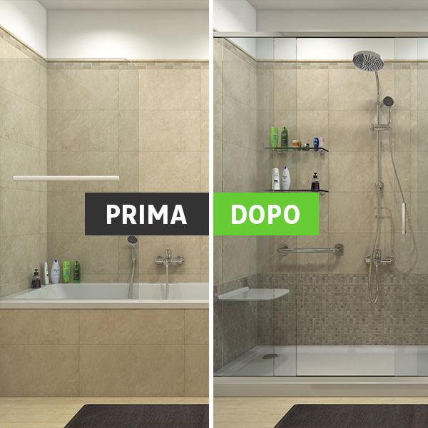 Simple box doccia in muratura con finestra with box doccia for Cabine doccia prezzi leroy merlin