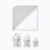 Set 1 cape et 3 gants gris