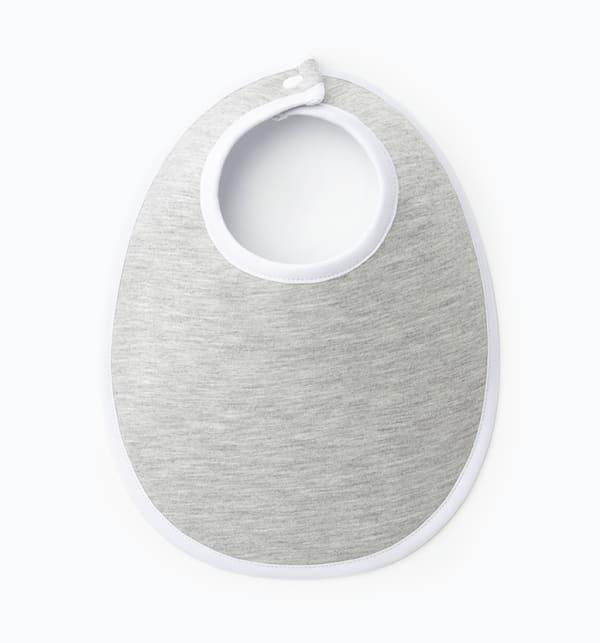 Bavoir gris