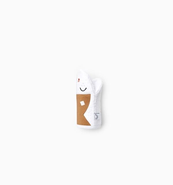 Gant de toilette marionnette bébé camel