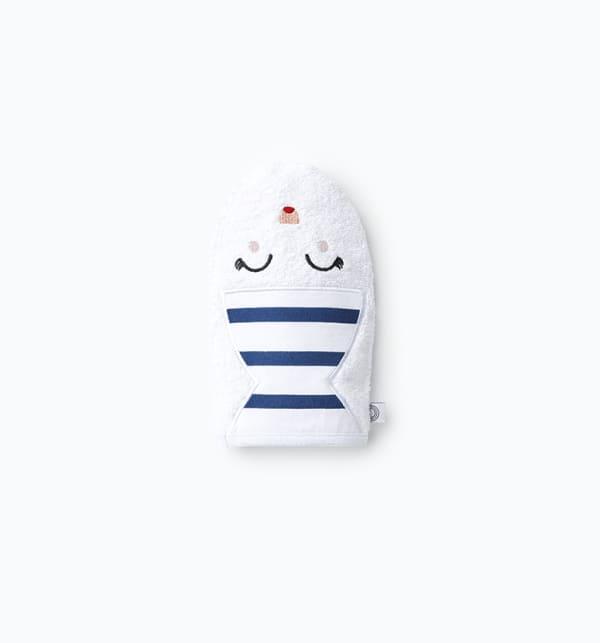 Gant de toilette marionnette maman marinière