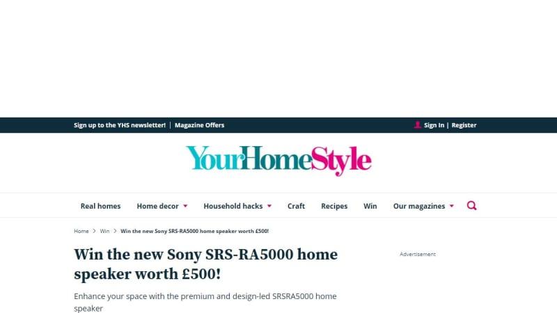 Sony Srs-Ra5000 Home Speaker