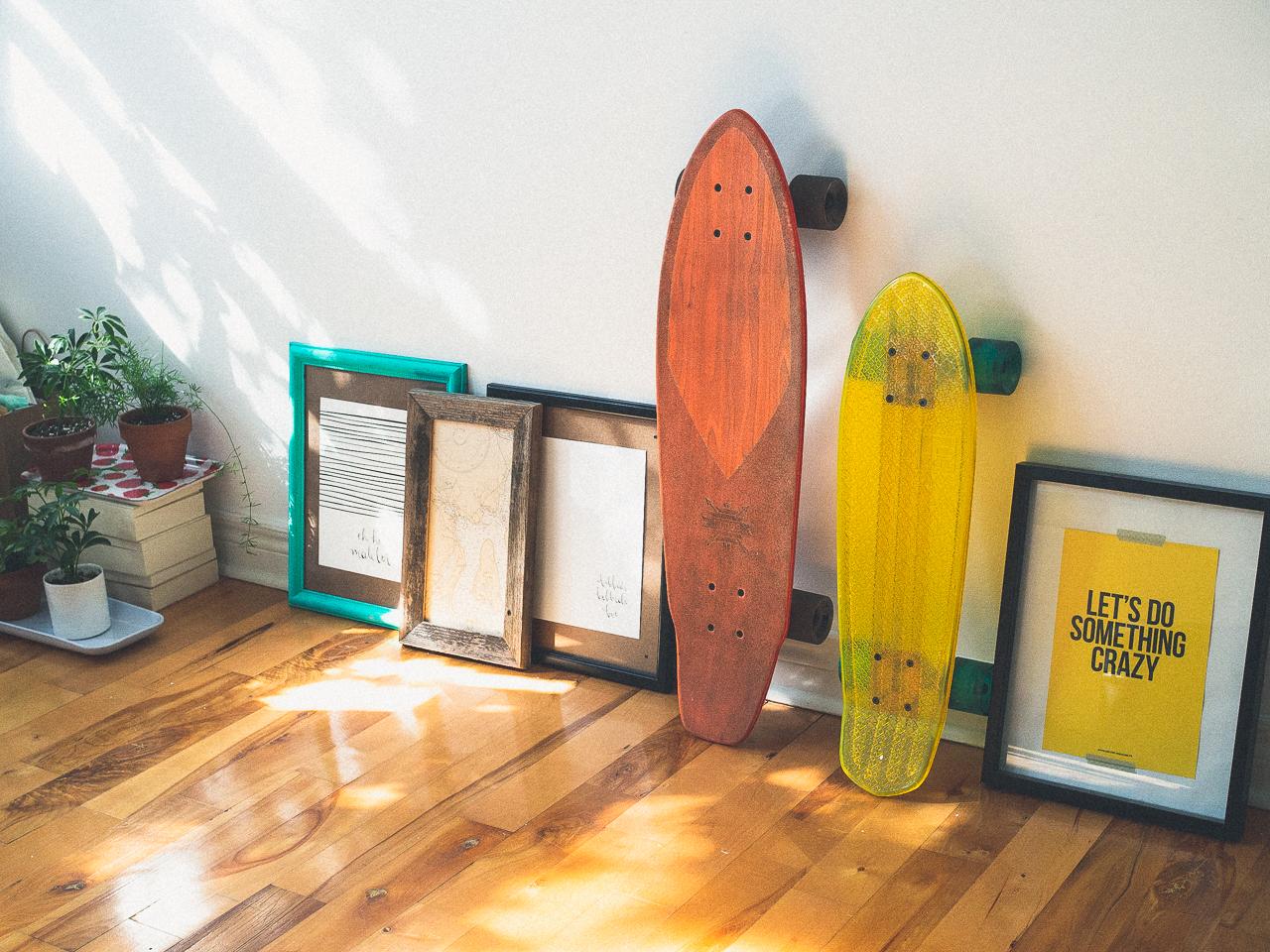 skateboard and light