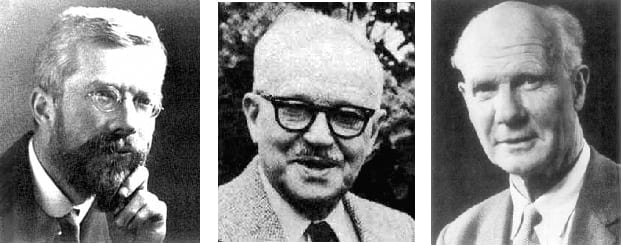 Picture of the giants who founded frequentist statistics such as Egon Pearson, Ronald Fisher, and Jerzy Neyman