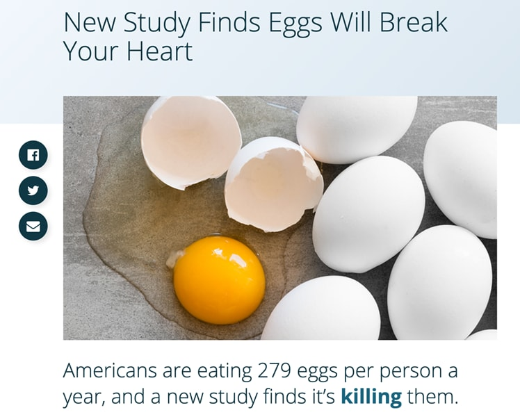 Fear mongering headlines about eggs