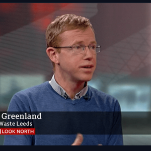 Rob Greenland, Co-director of Zero Waste Leeds, on BBC Look North, 3 December 2019