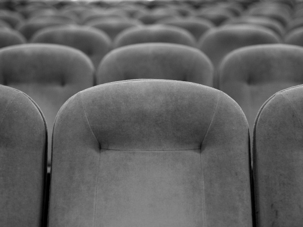 Rows of seats in the main auditorium.