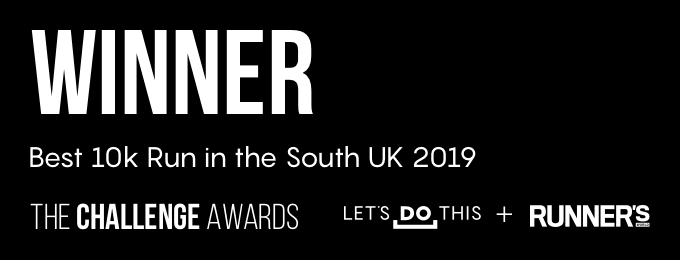 Let's Do This 10k Run South Awards Badge for Nice Work