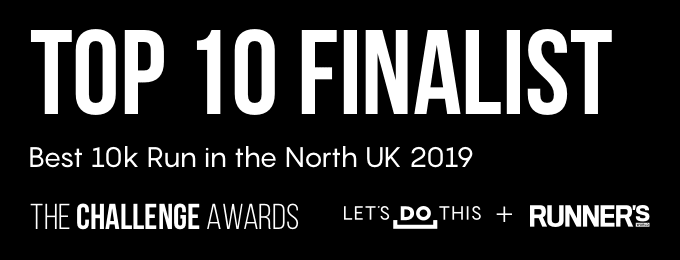 Let's Do This 10k Run North Awards Badge for Two Castles Run