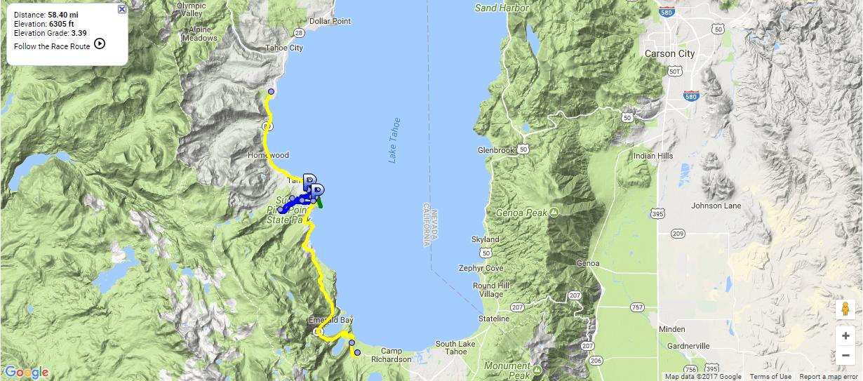 Lake Tahoe Triathlon 2019 - Half Ironman Triathlon in Tahoma