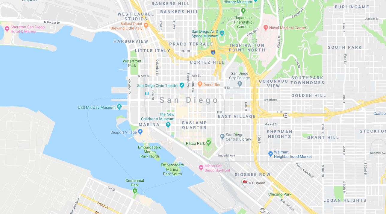 Little Italy San Diego Map.Seaport Marina Little Italy 5k Running Tour Yoga March 4 2019