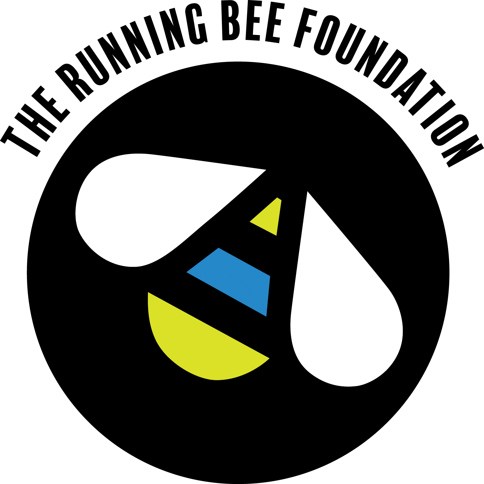 The Running Bee Foundation's logo