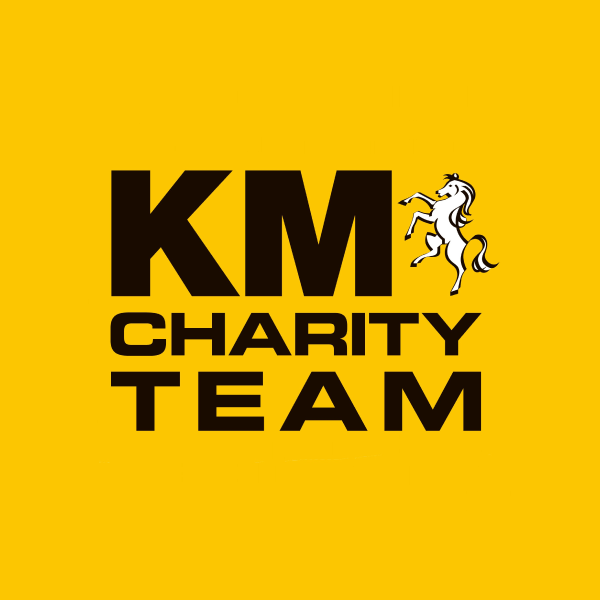 The KM Charity Team's logo