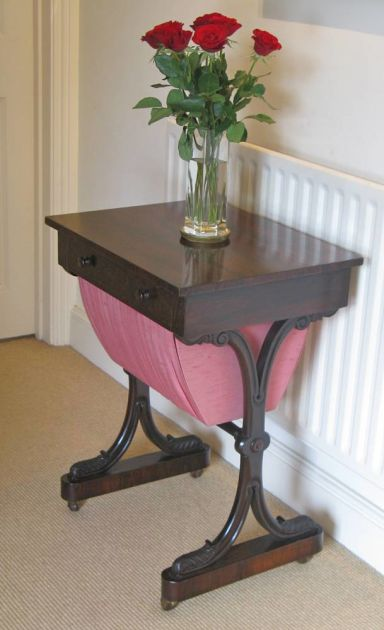 Early Victorian Rosewood Work Table