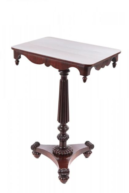 Quality William Iv Rosewood Wine/lamp Table