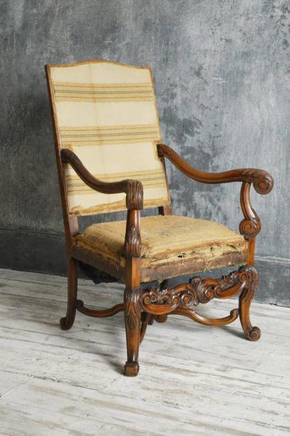 Antique Chair Louis Xiv