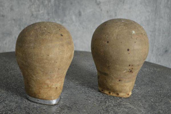 Pair Of Industrial Milliner Heads