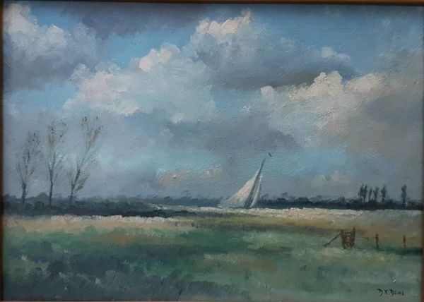 "Oil Painting ""windy Day On The Broads"""