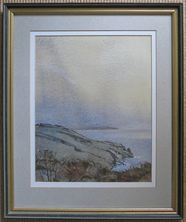 Original Watercolour Storm Over The Lizard By Philip Dunthorne