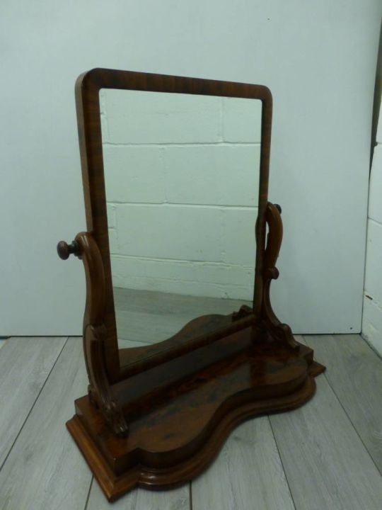 Large Antique Toilet/ Dressing Table Mirror