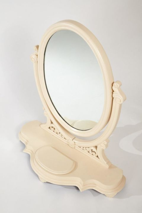 Victorian Painted Dressing Table Mirror C.1860