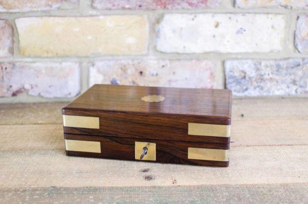 Rosewood Georgian Brass Bound Table Box C.1820