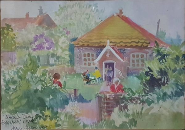 "Watercolour ""polling Day 1983, Edgefield"""