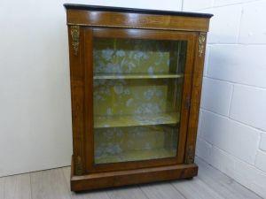 Antique Glazed Pier Cabinet