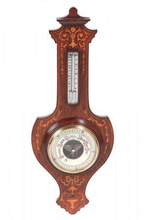 Antique Rosewood Inlaid Barometer C. 1890