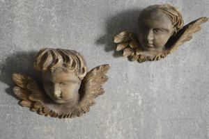 Antique Carved Angels