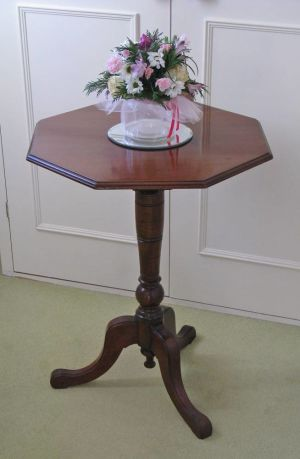 Late Victorian Walnut Octagonal Occasional Table On Tripod Base