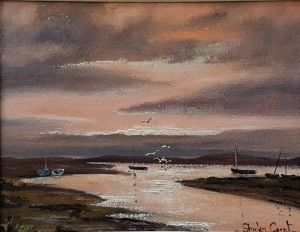 "Oil On Board ""sunset, Burnham Overy Staithe"""