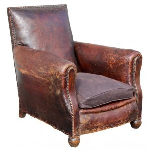 Superb Leather Club Chair