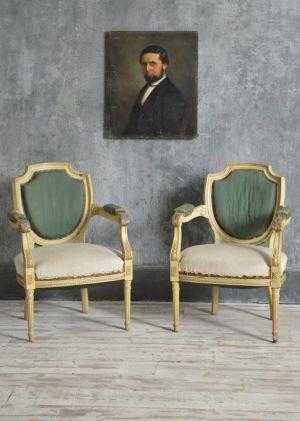 Pair Louis XVI Fauteuils