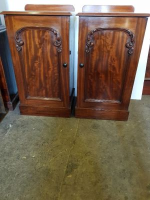 Antique Mahogany Bedside Cabinets