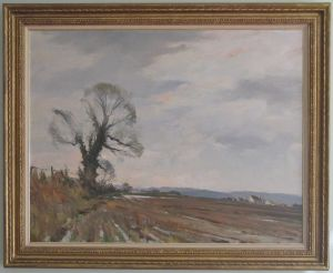 Gilt-framed Oil On Canvas 'early Morning' By Edward Wesson