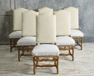 Set Of 6 Os Du Mouton Dining Chairs