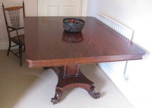 Antique Mahogany Tilt Top Breakfast Table