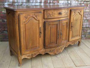 Antique French Fruit Wood Enfilade, Sideboard