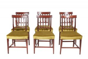 Fine Set Of 6 Georgian Mahogany Dining Chairs