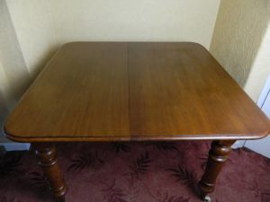 Mahogany Pull Out Extending Table