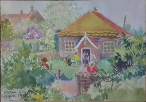 """Watercolour """"polling Day 1983, Edgefield"""""""