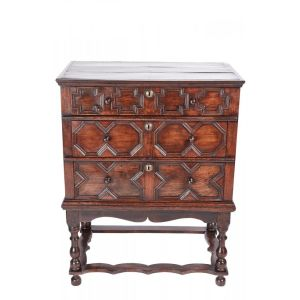 18th Century Oak Chest On Stand
