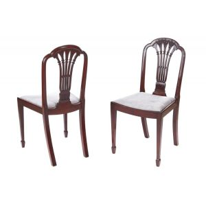 Quality Pair Of Antique Mahogany Carved Chairs