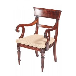 Quality Mahogany Antique William Iv Desk Chair