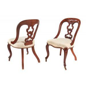 Fantastic Pair Of Victorian Mahogany Desk Chairs